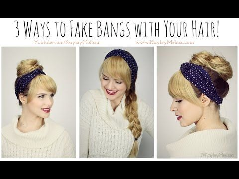 3 Ways to *Fake Bangs* with Your Hair!! - YouTube