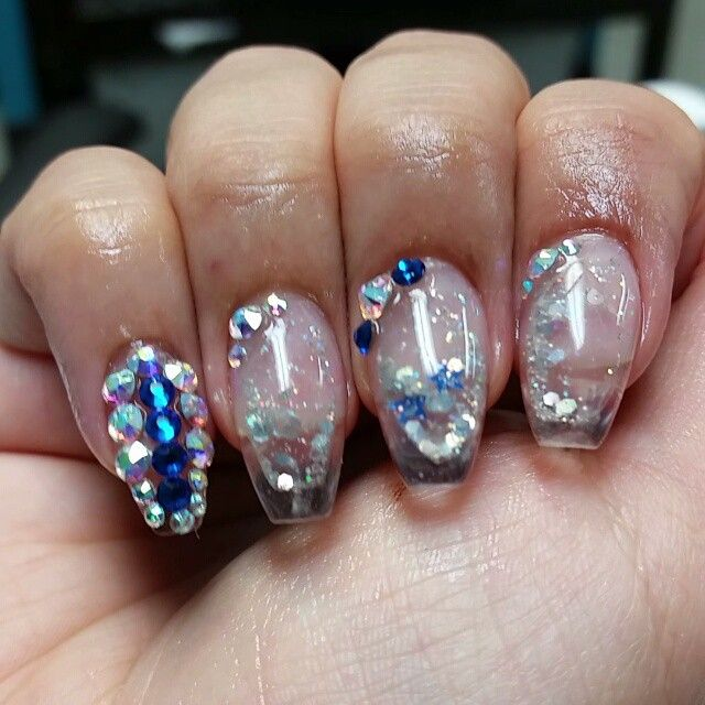newest aquarium nail new technique ! one of the best ! - 635×633
