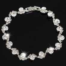 Gemaakt Diamond Armbanden & Bangles Voor Vrouwen Sieraden Vrouwelijke Bruiloft Armband Met Strass Stenen Pulseira Feminina B0054(China (Mainland))