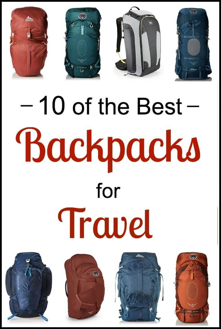 Looking for a travel backpack? Check out this list of 10 travel backpacks from the most popular backpack brands