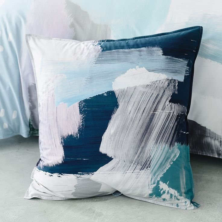 In one of this seasons stand out designs from Home Republic, Paint will add colour and artistic style to your bedroom. Hand painted by our in house designers this quilt cover set as been made from soft cotton for a luxurious night's sleep. Complete this bold look with coordinating European pillowcases, also available in the range.