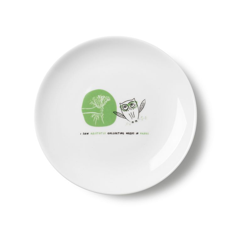 Plate Naxos: I saw Aristotle collecting herbs in Naxos!