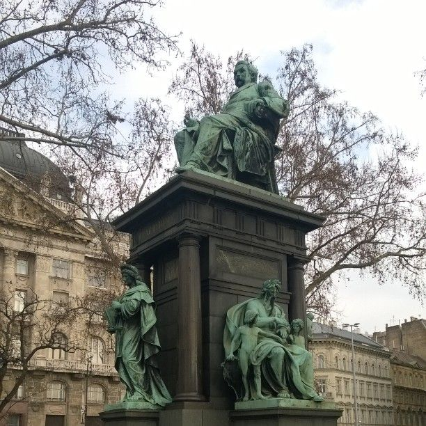 The Pest side of Budapest is full of beautiful monuments.