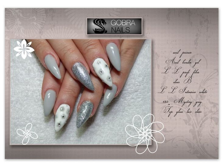 grey elegance nails