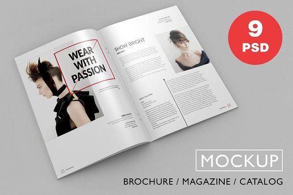 Brochure / Magazine PSD Mock-Ups by GraphicList on @creativemarket