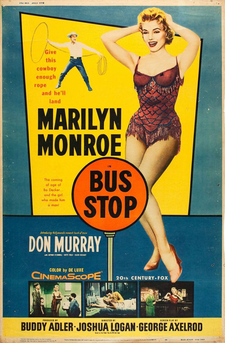 bus stop 1956 marilyn monroe movie posters pinterest