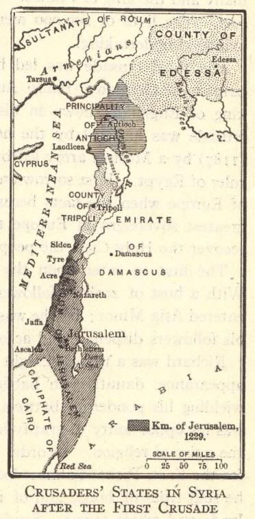 Map of Crusaders' States in Syria #crusades