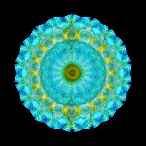 Fractal Painting - Sacred Voice - Mandala Art By Sharon Cummings by Sharon Cummings