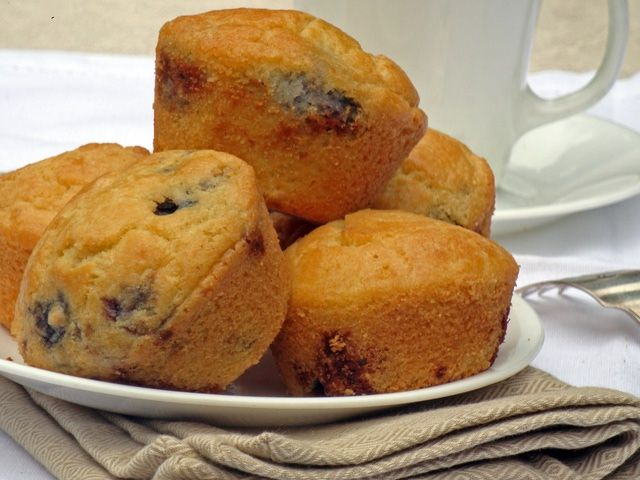 Versatile Sugar-Free Muffin Recipe: Low-carb muffins and easy to make, and freeze well.  These are the blueberry version.