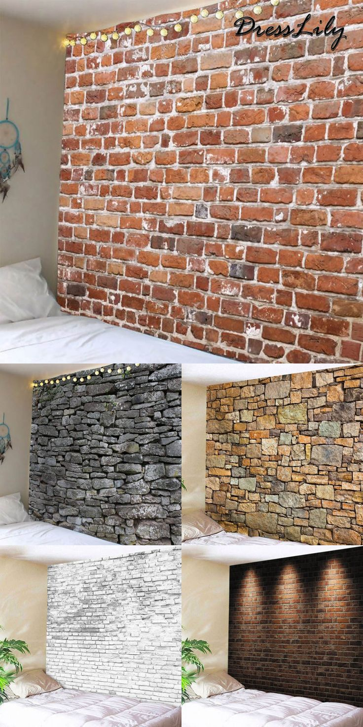 Buy the latest stylish brick print wall tapestry at a cheapest price with high quality | FREE SHIPMENT WORLD WIDE | dresslily,dresslily.com,dresslily wall tapestry, dresslily home decor, home, bedroom,dormitory, home decoration,home decor | #dresslily #homedecor #walltapestry