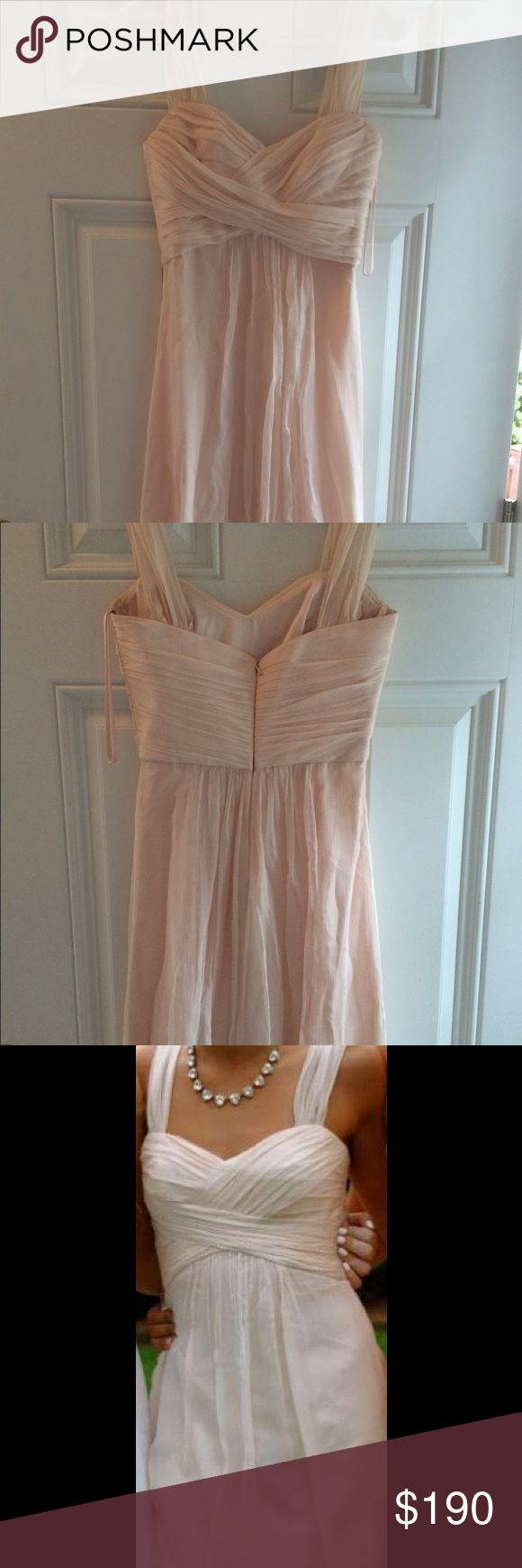 Amsale champagne prom dress. Amsale champagne prom dress. 100% silk. Worn once. Good condition. Offers accepted! Amsale Dresses Prom