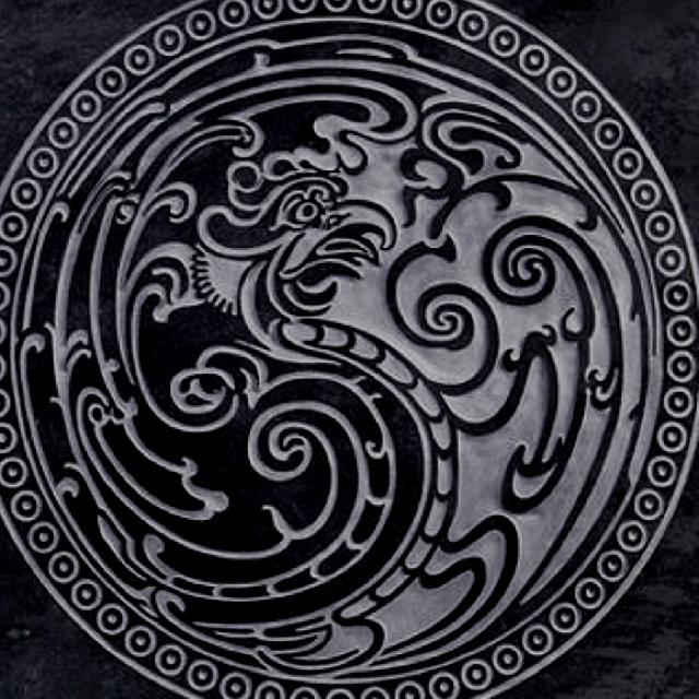 19th Century Korean Phoenix / Yin Yang