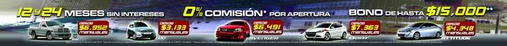 Faldon para agencia automotriz, promoción de modelos 2013.