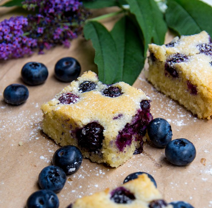 Blueberry and Almond Slice