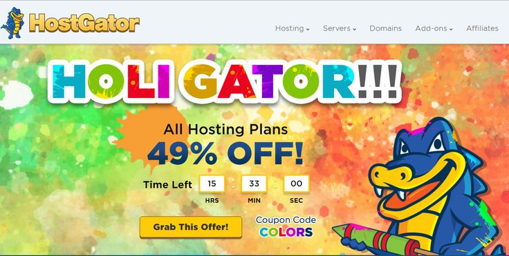 HostGator India - Flat 49% Off on Hosting. Only 15 hours Left. eCommerce Ready · Automatic Data Backups · 24x7 Technical Support@ http://goo.gl/WeaZRM Read Hostgator review@ http://goo.gl/Bnbaxi