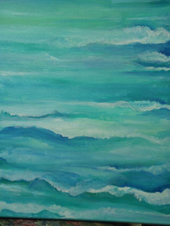 Seascape, Original painting Ocean ART, 16 x 20