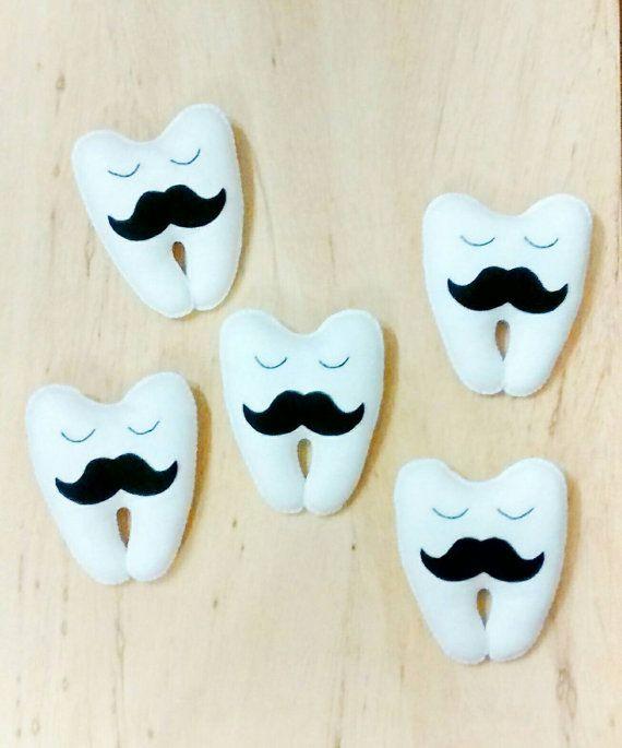 Monsieur Tooth Fairy  Plushie  Mustache  Kids  by CloudishHandmade