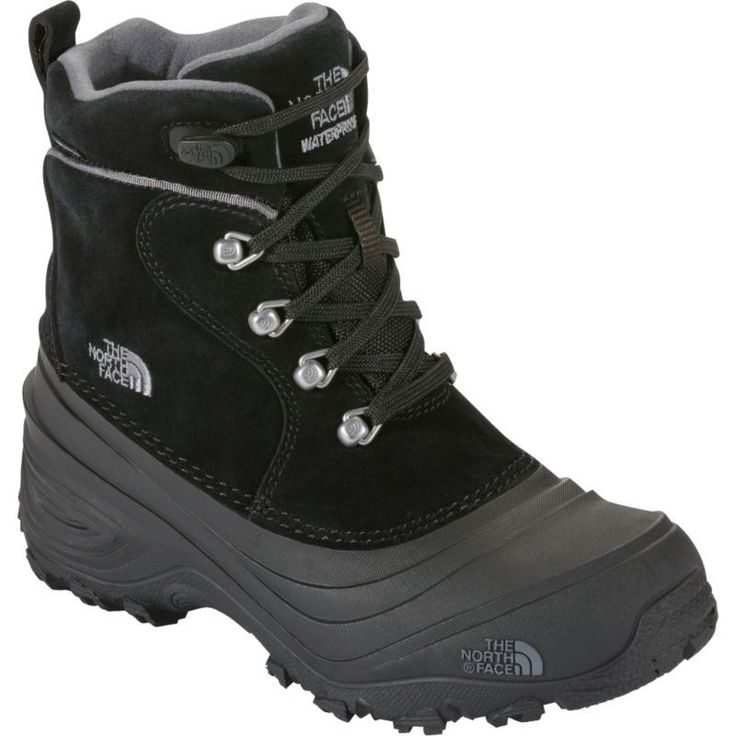 The North Face Kids' Chilkat Lace II 200g Waterproof Winter Boots, Black