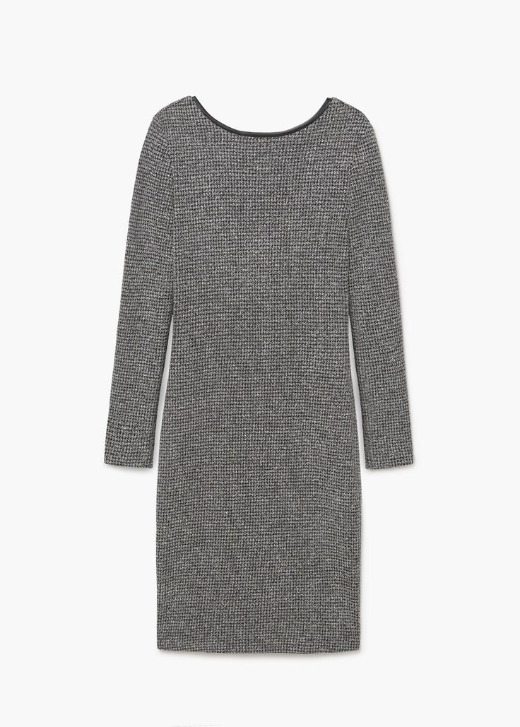 Jurk met rugdecolleté | MANGO dress black grey