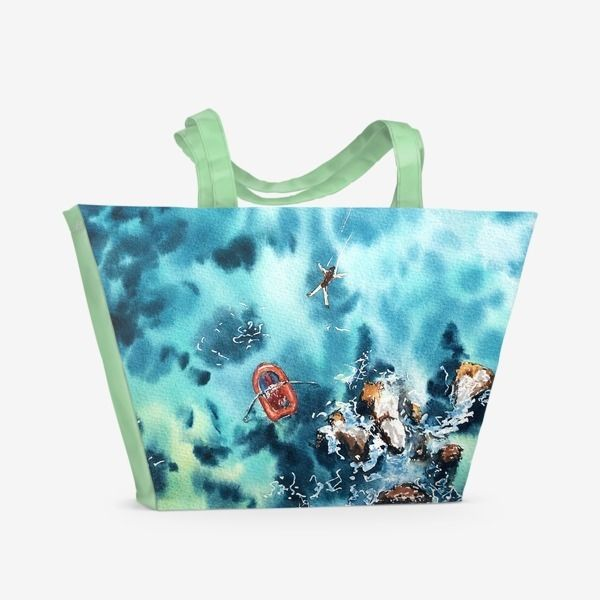 Пляжная сумка «Прыжок над морем»