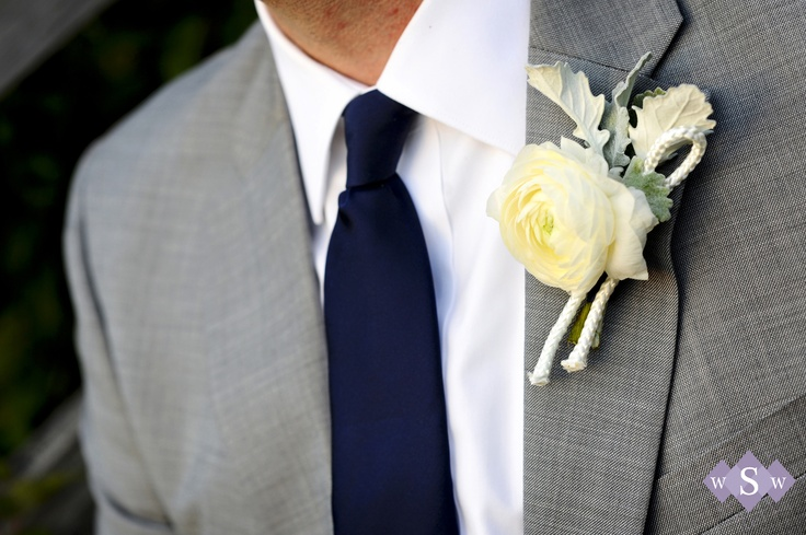 Navy and grey groom - Peaks Island Wedding - Inn at Peaks Island - #MaineWedding - by Samantha Warren Weddings