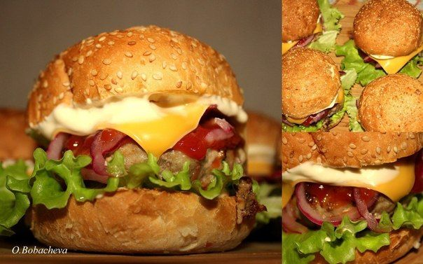 Еще больше рецептов здесь https://plus.google.com/116534260894270112373/posts  Домашние бургеры  на 5 шт.: булочки для гамбургеров 5шт.( у меня готовые) говяжий фарш 500гр.  (говядина+1булочка,замоченая в молоке+репчатый лук+2 зубчика чеснока+смесь перцев+1ч.л.сушеного орегано+1ч.л.молотого кориандра+соль. По желанию, можете добавить в фарш яйцо, я не добавляю.) панировочные сухари (для формирования котлет) 1 средний/большой соленый или маринованный огурец (у меня соленые, домашние) готовые…