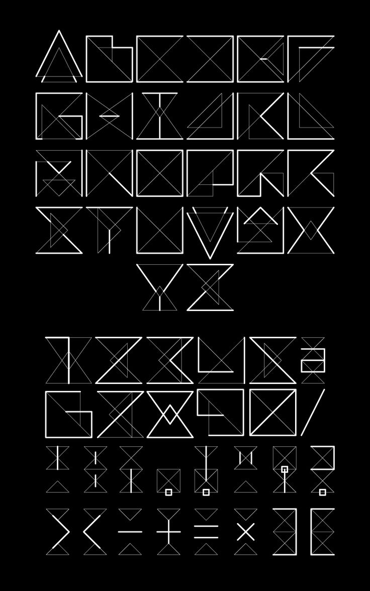 17 Best images about 03 Geometric Typeface on Pinterest ...