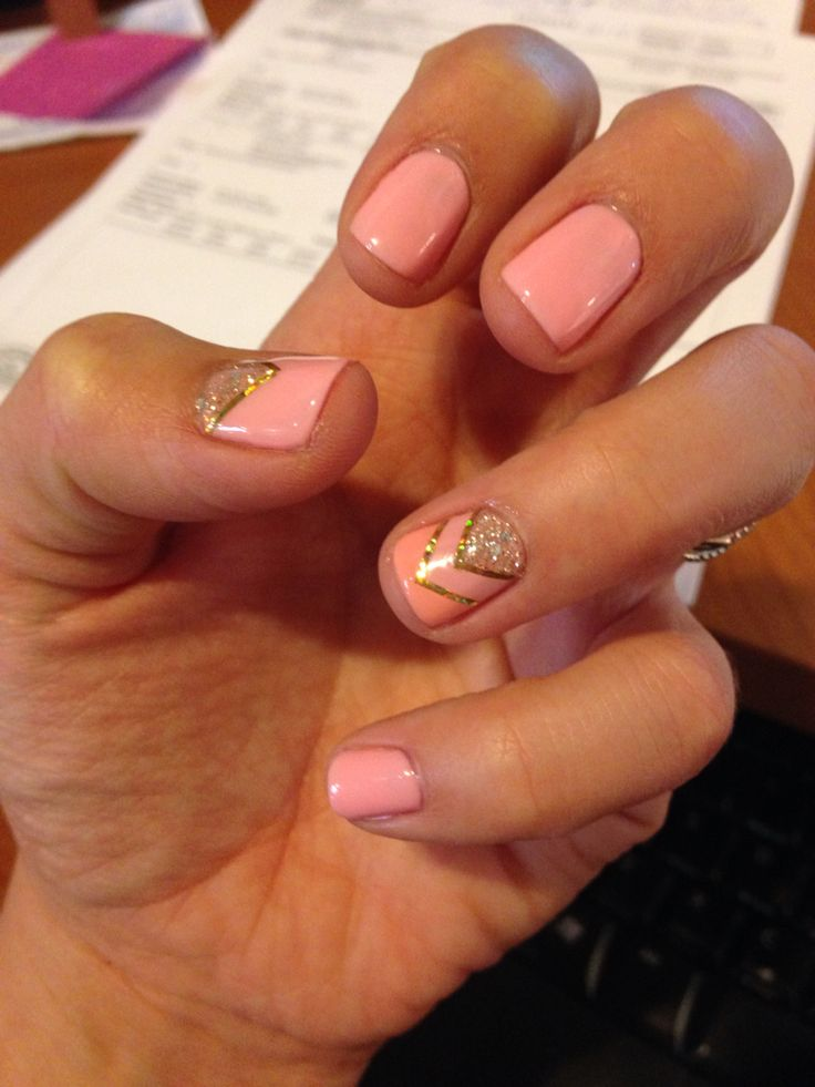 Pretty pink shellac design