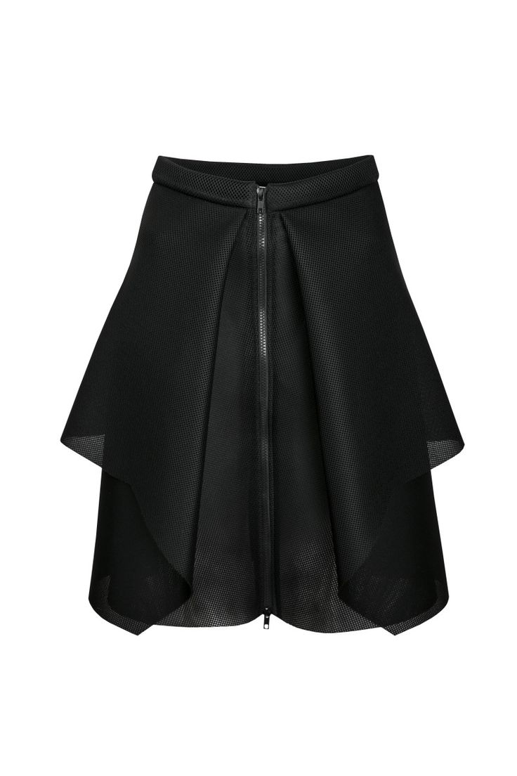 Sylwia Rochala, aw2015, Nikita tech shiny black skirt. To download high or low resolution product images view Mondrianista.com (editorial use only).