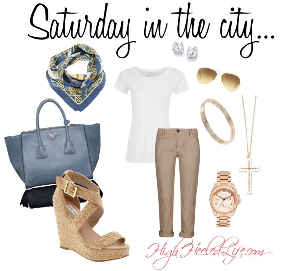 """""""Saturday Afternoon in the City"""" by fallingoffahighheeledlife on Polyvore"""