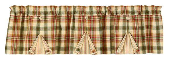 Complete the simple beauty of your kitchen or bathroom decor when you add this Lemon Pepper pleated lined valance from Primitive Star Quilt Shop.