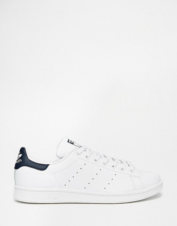 adidas Originals Stan Smith White & Navy Trainers saved by #ShoppingIS