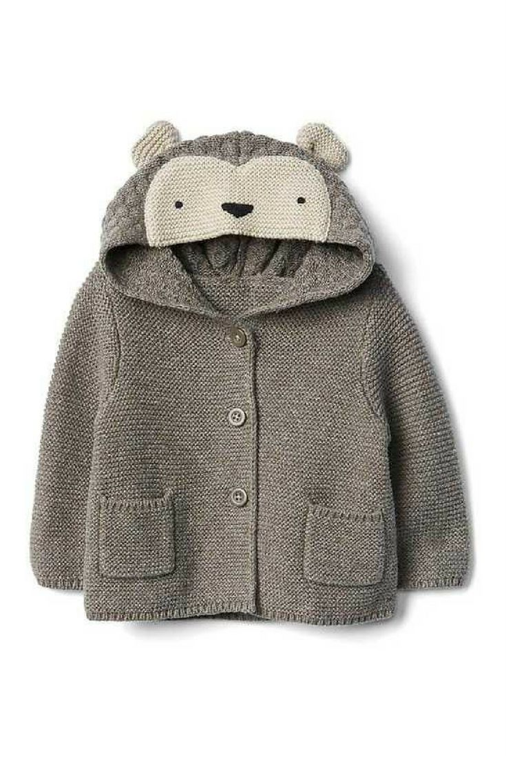 Adorable Hedgehog hooded button up sweater for kids #affiliate