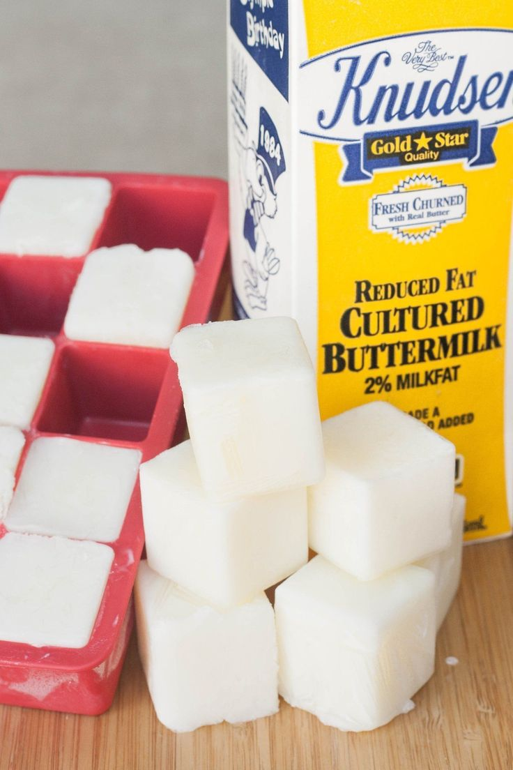 So what should you do after you're done with that buttermilk recipe but there's still some left in the carton? Freeze it!