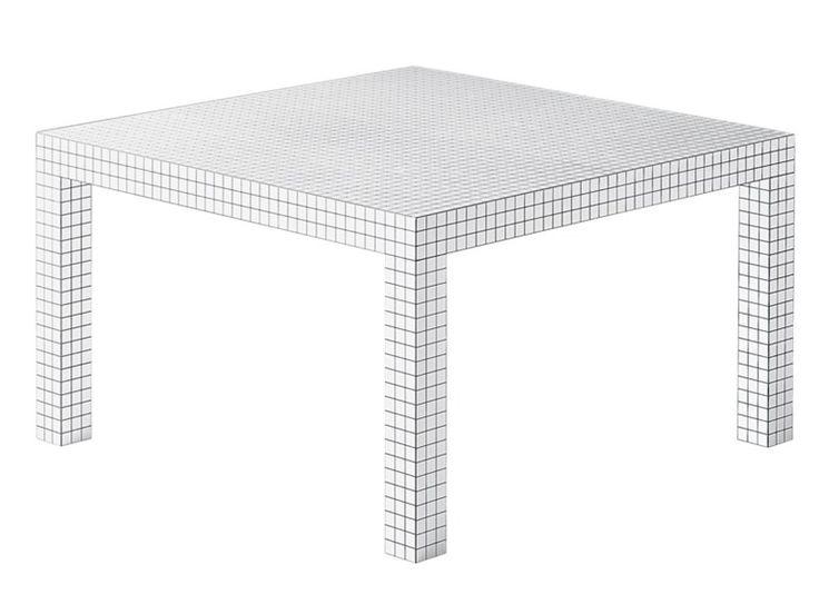 Tavolo quadrato in tamburato QUADERNA 2600 - Zanotta