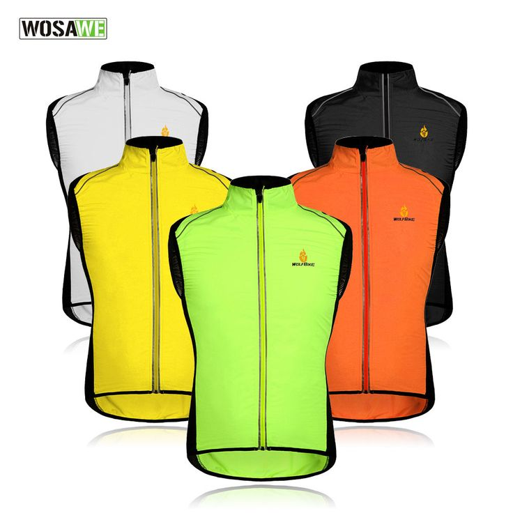 Hi-Viz Hi Vis High Visibility Fluorescent Running / Cycling Vest Gilet Top Shirt