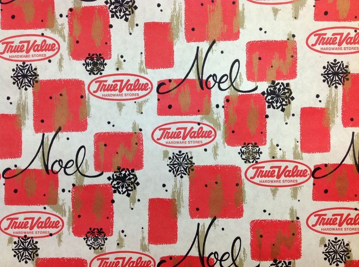 Vintage True Value gift wrapping paper