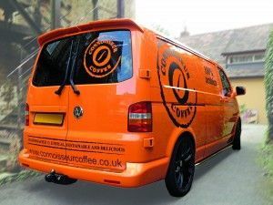 Coffee Van with vinyl graphics and tinted windows | van sign writing | Xtreme Signs