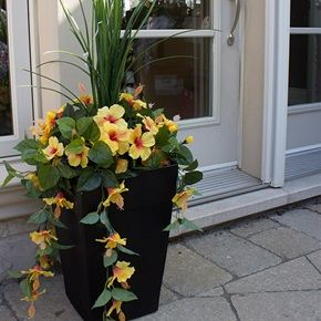 Les 20 meilleures id es de la cat gorie arrangements fleurs artificielles sur pinterest for Arrangement floral artificiel