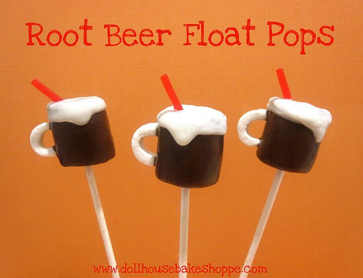 Lindsay Ann Bakes: Root Beer Float/Root Beer Mug Marshmallow Pops