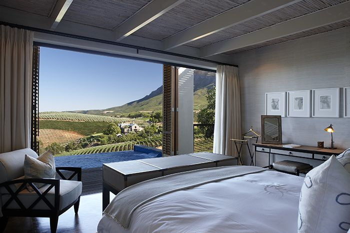 Relais & Chateaux hotel in Delaire Graff estate, Cape Winelands, South Africa.