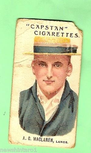 AUSTRALIAN & ENGLISH  CRICKETERS CIGARETTE CARD 1907