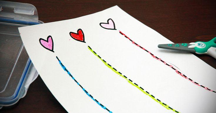 Activit de d coupage de saint valentin avec feuille - Idee activite saint valentin ...