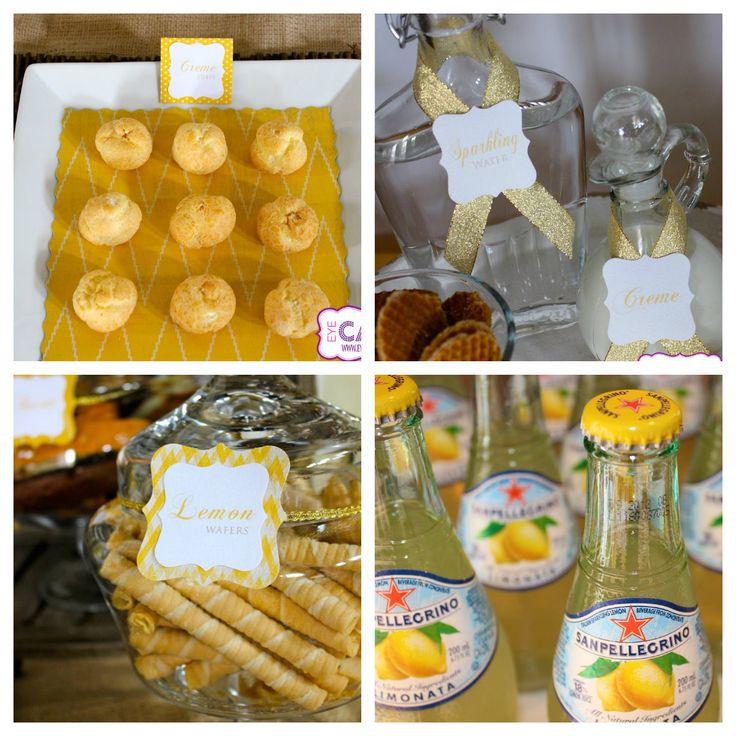 Various treats at our Italian Bridal Shower