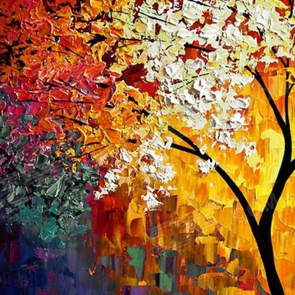arboles pintados con pintura - Buscar con Google
