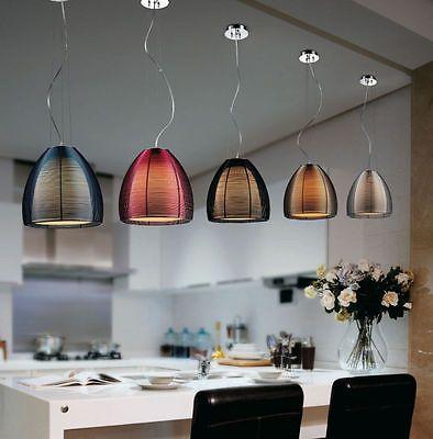 Pendelleuchte Pendellampe Hängeleuchte Hängelampe Drahtschirm  Lampe NEU LED