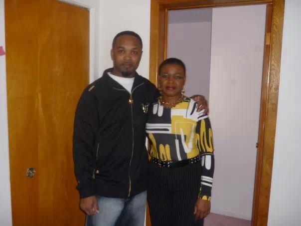 me and my mom.