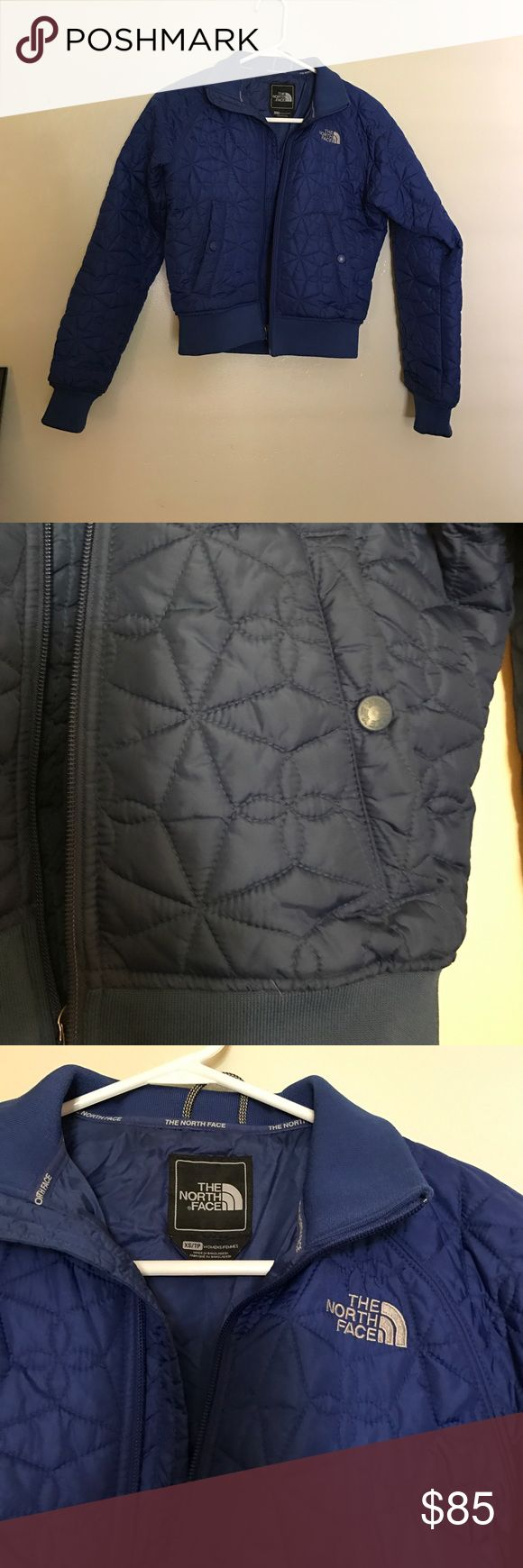 Royal blue north face jacket Royal Blue north face jacket. Size XS. Shell 100% nylon lining 100% nylon insulation 100% polyester. Worn once. The North Face Jackets & Coats