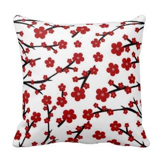 red decorative throw pillows pretty throw pillows red cherry blossom pattern throw pillow
