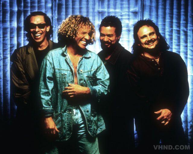 Van Halen! Eddie and Alex Van Halen, Sammy Hagar and Michael Anthony. Sammy helped Van Halen get more #1 hits and achieve more financial success than before or after his presence.
